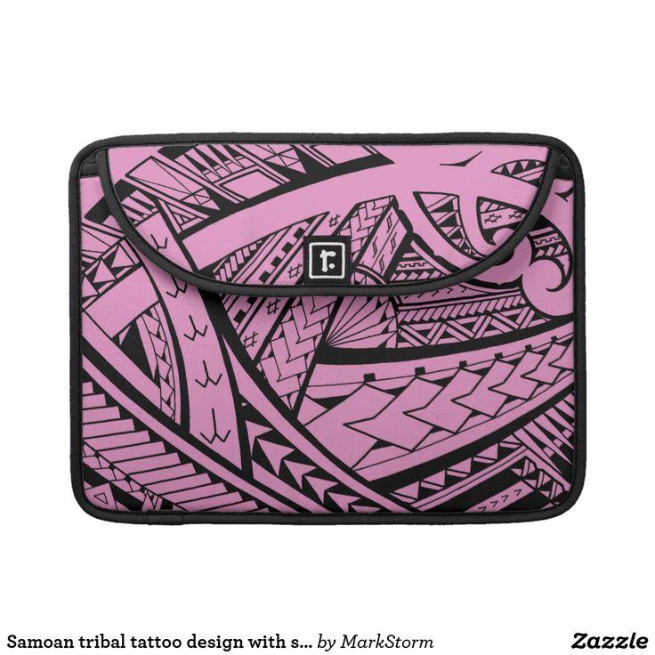 Samoan tribal tattoo design with spearheads sleeve for MacBooks