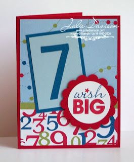Julie's Stamping Spot -- Stampin' Up! Project Ideas by Julie Davison: Wish Big Birthday Card