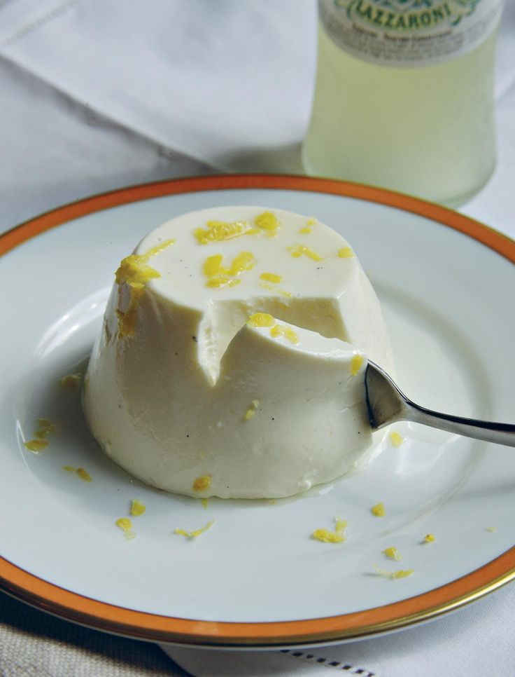 For a more grown up dessert we love this Pannacotta al Limoncello. This creamy, smooth dessert is easy to make and comes from the book Valvona & Crolla: A Year at an Italian Table.