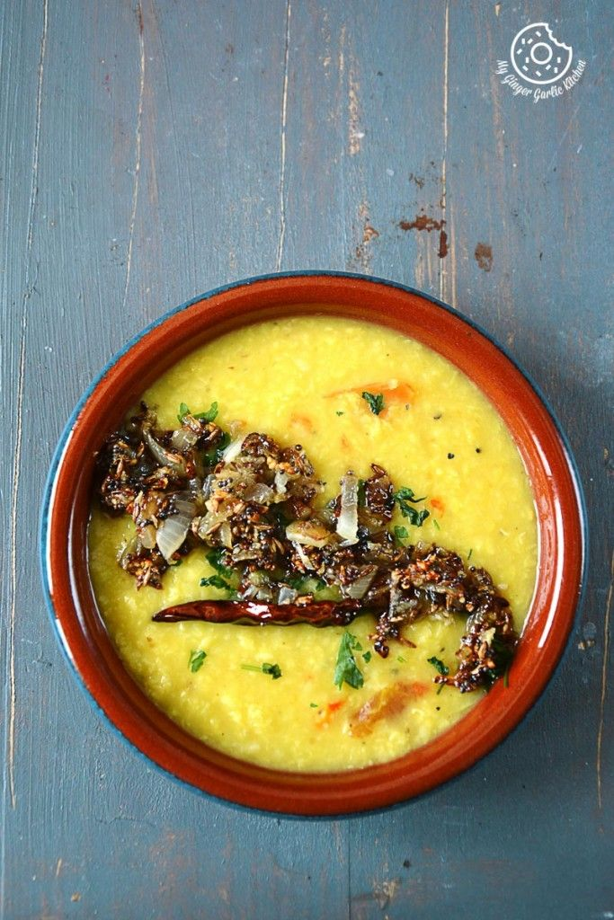 Cardamom Scented Moong Dal Tadka - Tempered Yellow Lentils Soup