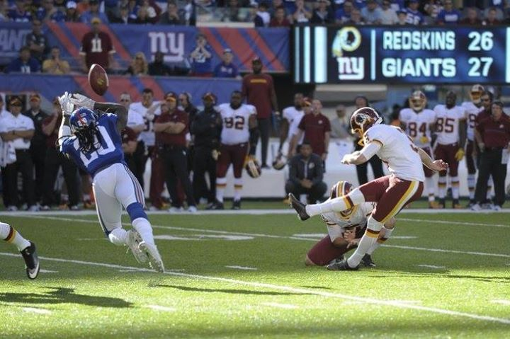 Congratulations to #Redskins kicker Dustin Hopkins for being named the NFC Special Teams Player of the Week for his performance in the teams Week 3 win against the New York Giants.  The honor is the first of Hopkins career and the 15th NFC Special Teams Player of the Week honor awarded to a member of the Redskins since the awards inception in 1984. Hopkins became the first member of the Redskins to receive the honor for special teams since kicker Kai Forbath in Week 8 of the 2014 season…