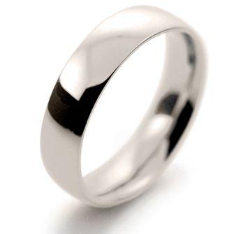 18ct White Gold Wedding Ring Medium Heavy Traditional Court - 5mm
