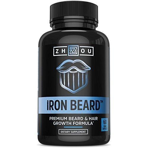 IRON BEARD Beard Growth Vitamin Supplement for Men  #beardgrowth #vitamins
