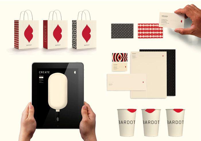 Bardot: boutique ice cream purveyor from Mexico. Design by the ever-amazing Landor @landor_dot_com #deliciousdesign