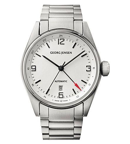 GEORG JENSEN Delta Classic stainless steel watch 42mm