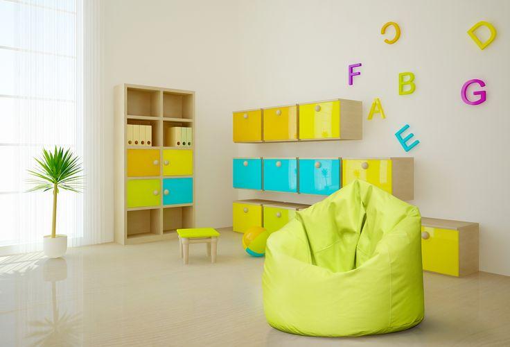 Pufa Sako w pokoju dziecięcym