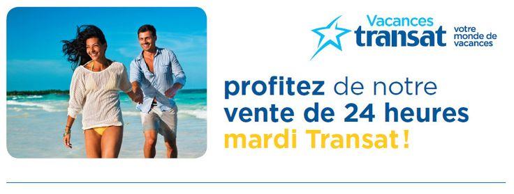 Profitez de la vente 24 heures des mardis Transat! Cliquez ici pour les détails de l'offre : http://ow.ly/oJDBX #voyage