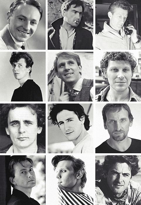 The actors who portrayed as The Doctor when they were young! Tom Baker, Peter Davison, and Sylvester McCoy and even William Hartnell look so cute! :)