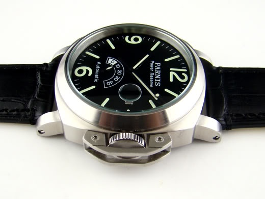 Parnis mens military watch with black strap
