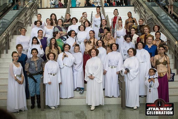 This Leia tribute photo from Celebration Orlando stole our hearts <3 Show us your favorite moments from Celebration.  #SWCO #starwarsmob