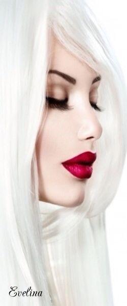 Lips the shade of dark cherry...