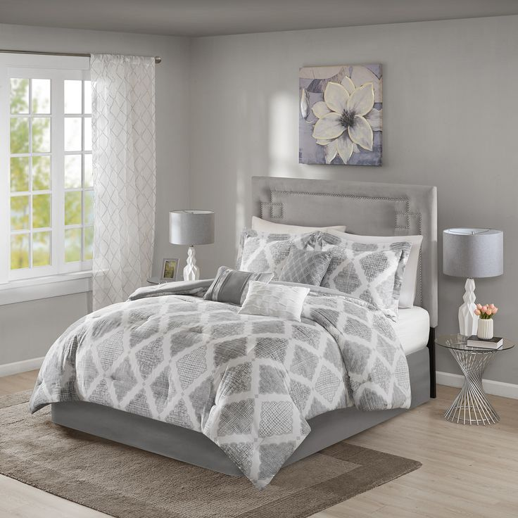 Madison Park Caledon 7 Piece Comforter Set In 2019 Grey