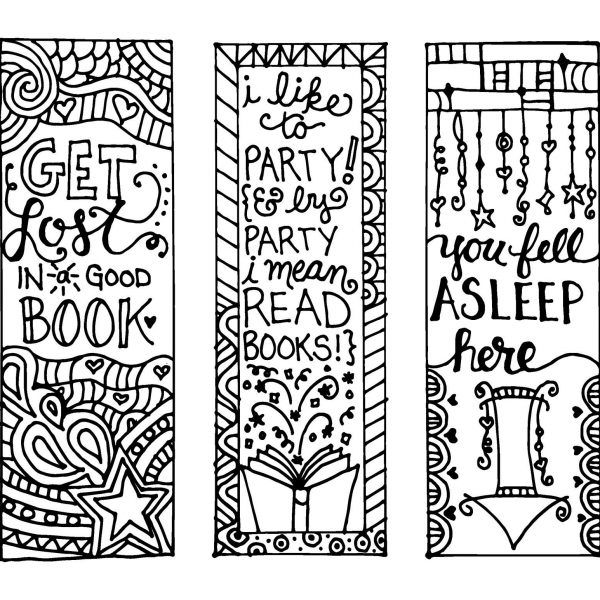 graphic about Printable Bookmarks Black and White identify Printable Bookmarks With Rates Black And White 2018