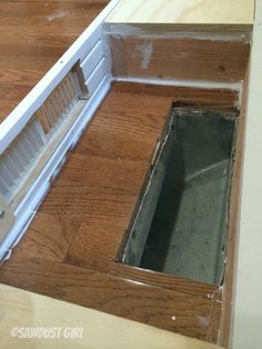 How to install cabinet base with a floor vent - Then install your baseboard. (btw– it's much easier to paint or finish this decorative base before installation as well.) I caulked all around the base of the inside of my little air pocket so no air would escape anywhere but out the vent. Probably not necessary since the air will take the path of least resistance but I like to be thorough.