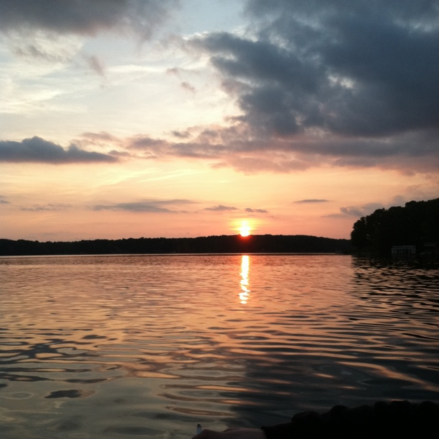 Sunset at Lake Gaston NC. So excited to see these every weekend in a few months!