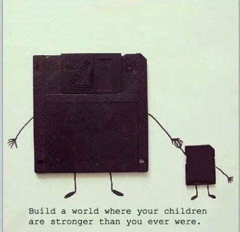 Floppy disk's kid