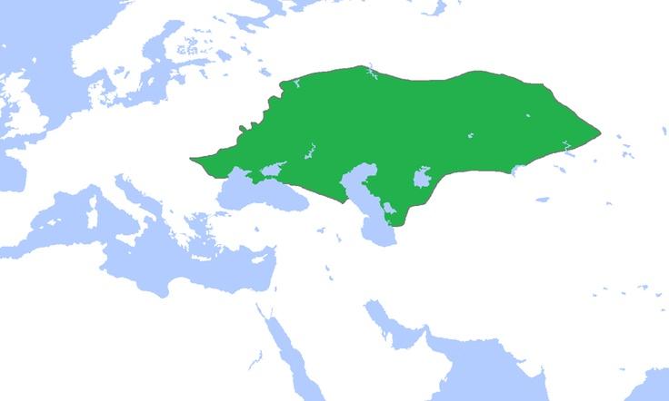 Horda de Oro fue un estado mongol que abarcó parte de lo que hoy es Rusia, Ucrania y Kazajistán tras la desintegración del Imperio Mongol en la década de 1240.  El nieto de Genghis Khan, Batu Khan, avanzó hacia el este de Europa y estableció en 1251 la Horda de Oro en Rusia que experimentó una decadencia cultural y el aislamiento del resto de Europa.  El Imperio de la Horda de Oro fue deshecho finalmente por Timur para formar tres kanatos tártaros: Kazán, Astrakán y Crimea.