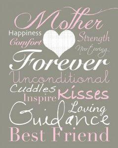 9 Free Printable Mother's Day Subway Art Prints! | Printables 4 Mom