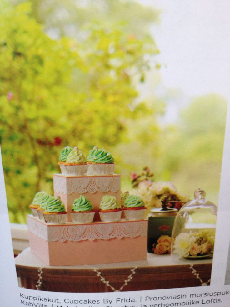 Cupcakes, hääcupcakeja, bröllopscupcakes