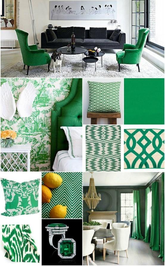 einrichtungstrends 2013 smaragdgrüne akzente innendesign