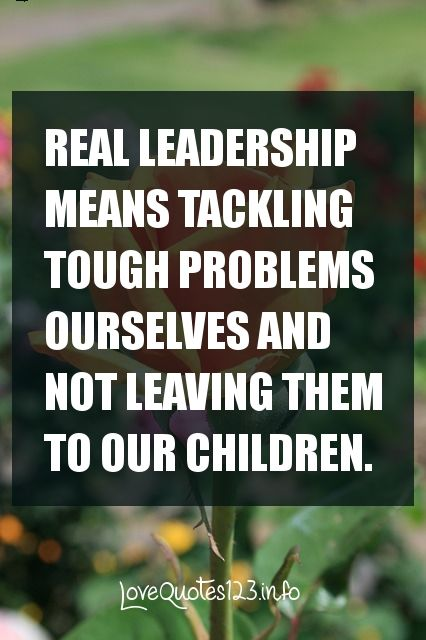 Real Leadership . . . #quotes