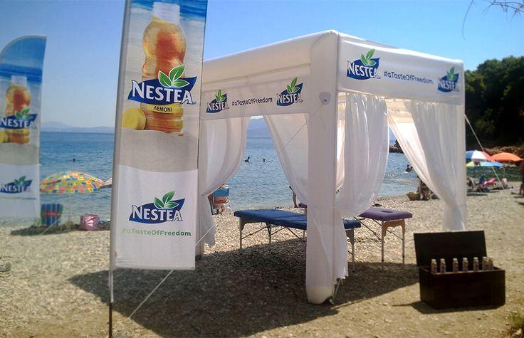 4m x 4m Cube shape inflatable event tent NESTEA