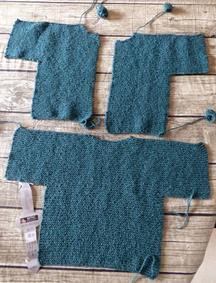 Tricoter - un Gilet Manches Courtes taille 4 ans - Tuto gratuit - Super facile - très rapide - aig 6,5 - 4 pel de 50g - Une semaine à Paris-Forêt