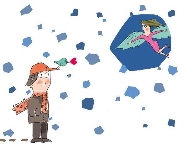 """[강춘의 남자여자]'보고 싶다 라는 말, 왜 못했을까?' 전화를 끊고 보니 정작 하고 싶었던 말은 끝내 하지 못했다. """"보고 싶다!""""라는 말이었다. #남자 #여자 #사랑 #일러스트 #Illustration #love ▶http://joongang.co.kr/mk"""