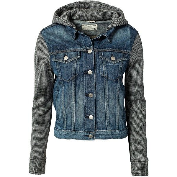 Rag & Bone Jean Jacket With Hood (1.270 BRL) ❤ liked on Polyvore featuring outerwear, jackets, tops, coats, coats & jackets, bradford, womens-fashion, flap jacket, blue jackets and rag bone jacket