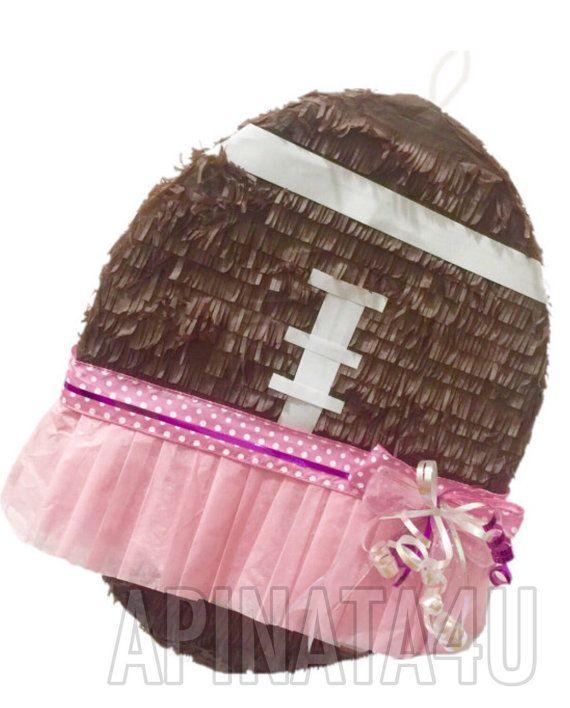Gender Reveal Football & Tutu Pull Strings or by Theperfectpinata