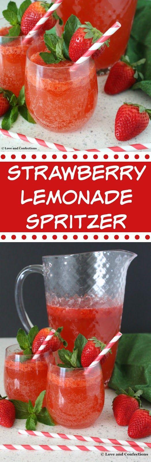 Strawberry Lemonade Spritzer from LoveandConfections.com