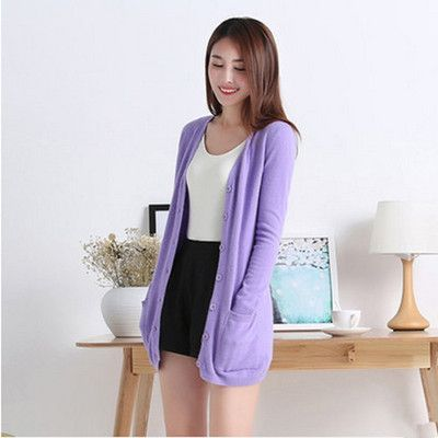 New winter women's Cashmere Cardigan long section V-neck Cashmere Cardigan coat big yards loose sweater genuine