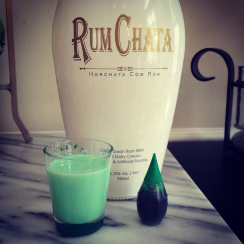 Green St. Patrick's Day RumChata shots! (poorgirlsguidechicago.com) This recipe CAN'T get any easier!