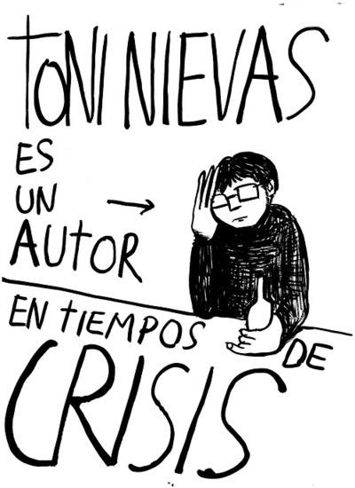 #CRISIS #DOCUMENTAL #HUMOR #SOCIAL - Portada del libro de TONI NIEVAS Autor en tiempos de crisis. COMO TODAS LAS MAÑANAS. Un falso documental de TONI NIEVAS sobre gente en crisis. Una comedia de Toni Nievas con Félix Maestro, Rodo Gener, Salvador Oliva, Araceli Gutiérrez y Berto Romero.  +INFO: www.facebook.com/toni.nievas y https://jp.twitter.com/toninievas  CAMPAÑA crowdfunding verkami www.verkami.com/projects/3625