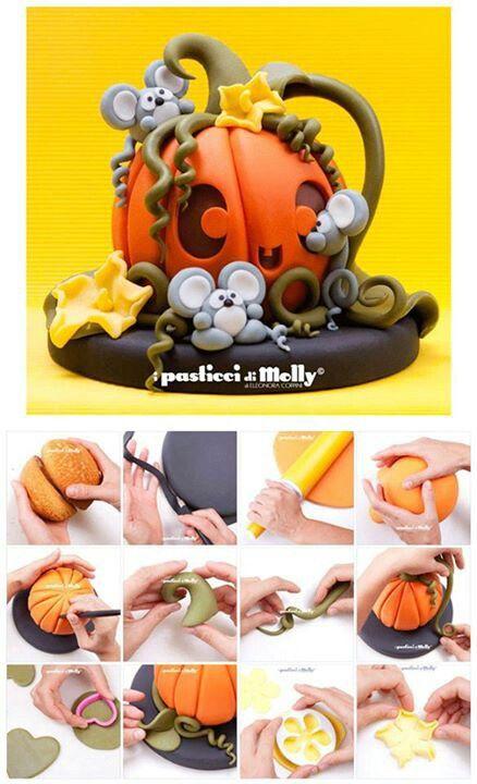 Pumpkin cake, including tutorial