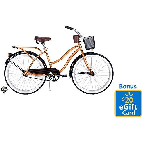 Walmart Com 26 Huffy Women S Nel Lusso Cruiser Bike With Bonus 20 Egift Card Cruiser Bike Womens Bike Comfort Bike