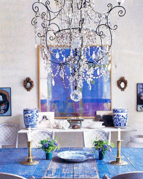 Love the table and the painting