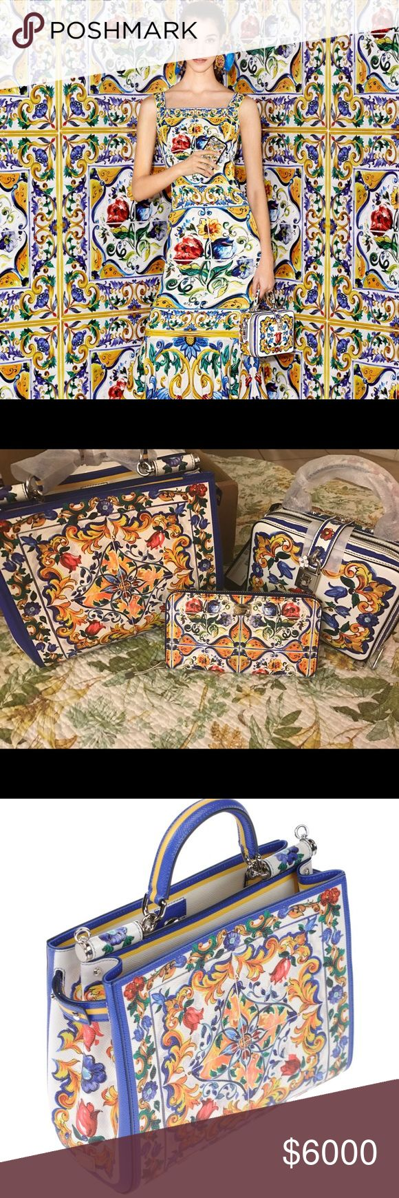 Dolce & Gabbana Majolica Dolce and Gabbana, My Majolica handbag Collection 👜 😻 all New with tags 100% authentic all 3 Dolce & Gabbana Bags Crossbody Bags