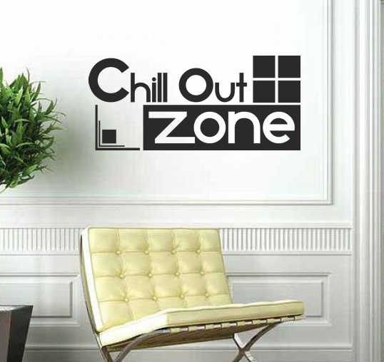 Chill out zone | Wall art sticker quote | Cool DECAL teens