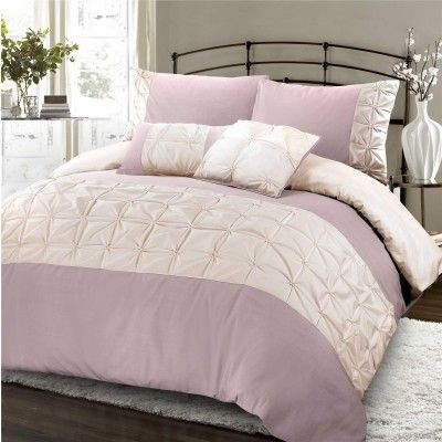Nimsay Jones Confection Embellished Duvet Cover Set Rose & Oyster