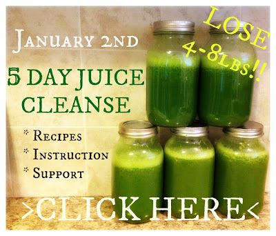 LOSE 4-8lbs in 5 days!!  I've lost over 9lbs on both of my 10 day juice cleanses before. I can't wait for this!!!