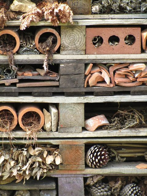 impressive insects house at Hidcote manor gardens, Cotswolds.