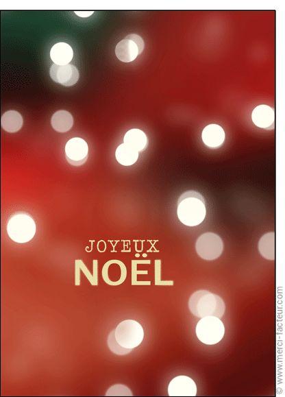 """#Carte #Noël """" #JoyeuxNoël """" les lumi�res de No�l pour envoyer par La Poste, sur Merci-Facteur !"""