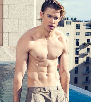 Chord Overstreet - Actor on Glee. WOW! Never knew he looked like that beneath his clothes! Yum!
