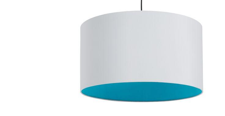 May Large Pendant Shade, Neon Blue | made.com