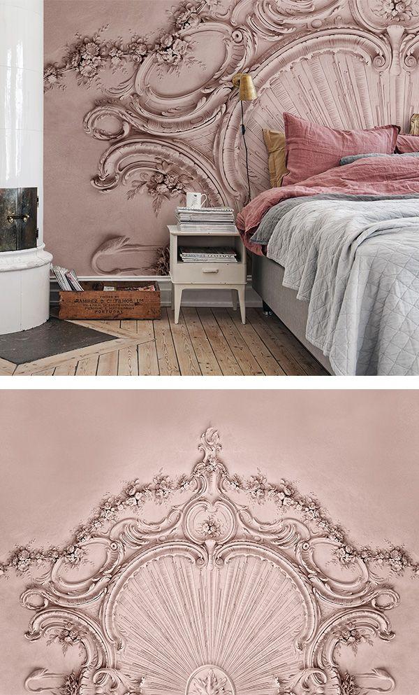 Stucco Gloria Dusty Pink Tapeten Wohnzimmer Moderne Tapeten Tapete Wohnzimmer