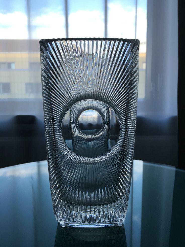 """Libochovice, Sklo union. """"Osaka""""vase by Rudolf Jurnikl"""