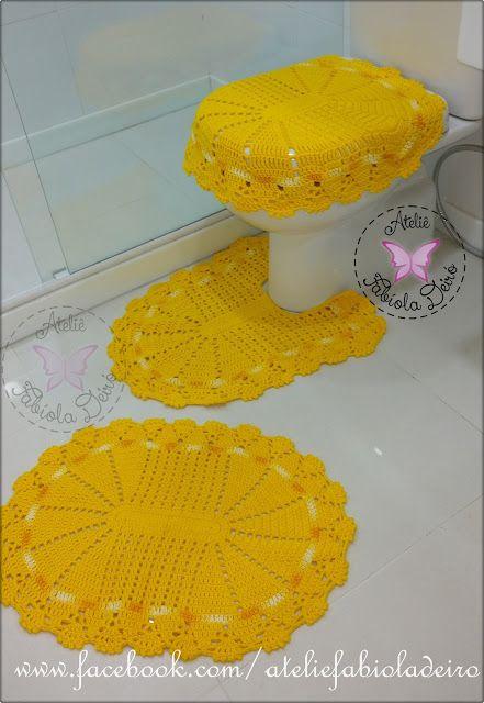 Artesanatos by Fabíola Deiró: Jogo de banheiro em crochê com Barroco da Círculo