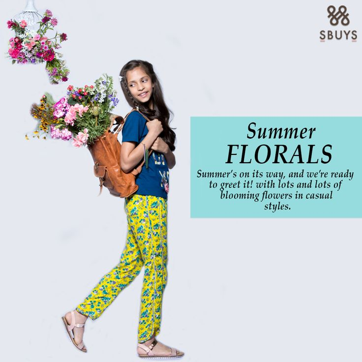 """Summer Florals"" Summer's on its way, and we're ready to greet it!!! Shop Now :- http://www.sbuys.in #sbuys #kidswear #stylediva #latesttrends #fashionistas #newcollection #elegant #urbanstylewear #springseason #huesandtints #newarrivals #summers #lifeandstyletips"