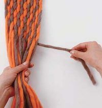 Finger Weaving Tutorial by Vickie Howell  - weave a scarf with just your fingers!